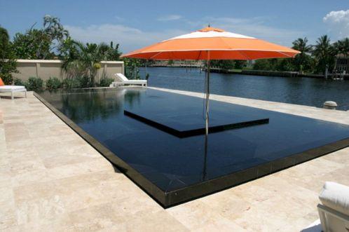 Black Tiles Swimming Pool