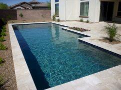 Blue Water Line Pool Tile