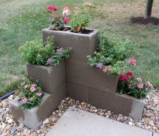 Cement Block Planter