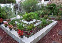 Cinder Block Raised Flower Bed