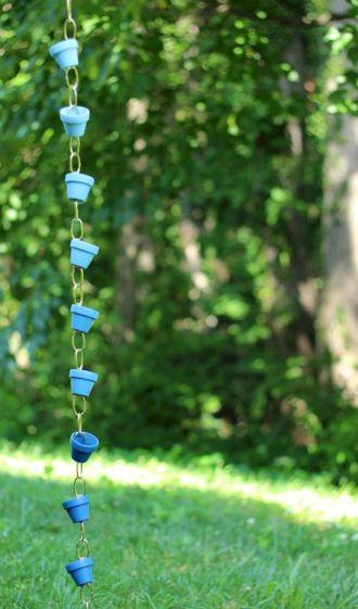 DIY Rain Chain Pots