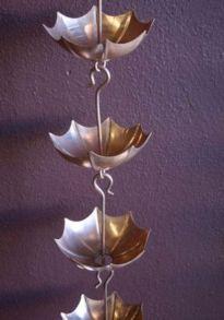 Glass Rain Chains