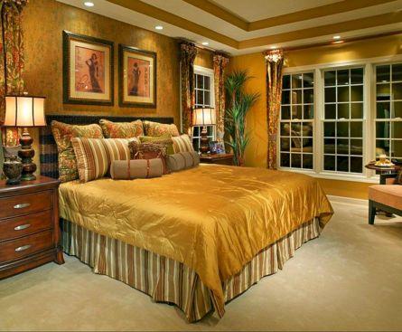 Gold Master Bedroom Decorating Ideas