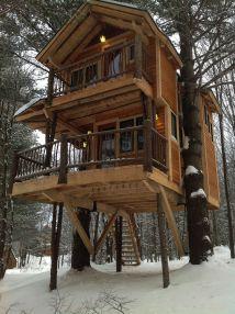 Log Cabin Tree House Plans