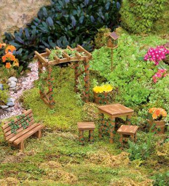 Miniature Fairy Garden Furniture Set