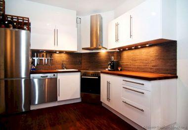 Modern Kitchen Backsplash with White Cabinets
