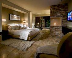 Modern Master Bedroom Fireplace