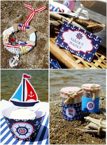 Nautical Birthday Party Decoration Ideas