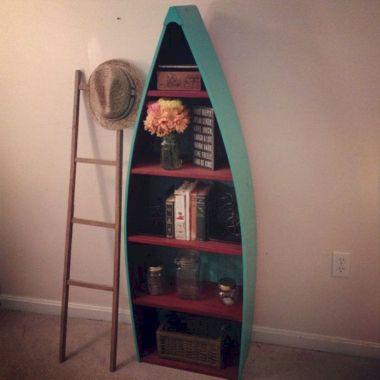 Row Boat Bookshelf Rustic