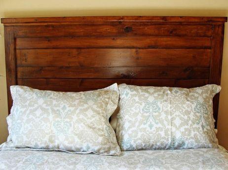 Rustic Wood Headboard DIY