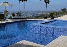 Swimming Glass Pool Tile Design