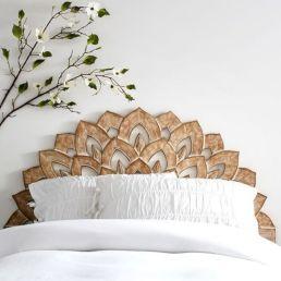 65 The Best Way to Beautify Your Bedroom Headboard 0046