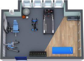 Basement Home Gym 10