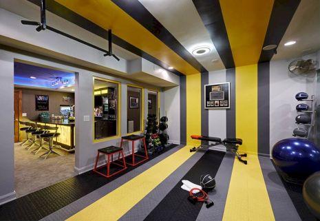 Basement Home Gym 12