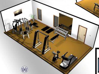 Basement Home Gym 9