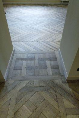 Chevron Grey Wood Floor