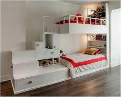 Cozy Bed Loft Ideas For Beloved Twin Kids 111