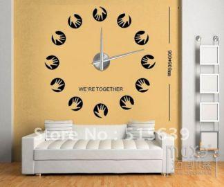 DIY Home Decor Large Wall Clock 3D