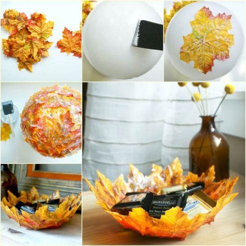 Decorative Leaf Bowl DIY
