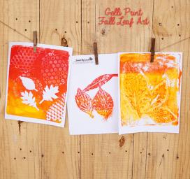 Fall DIY Gelli Art Printing
