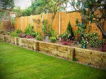 Fence side vegetable garden