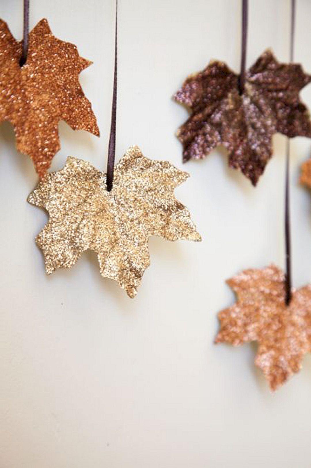 Glitter Fall Leaves