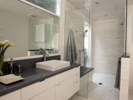 Grey and White Modern Bathroom Ideas