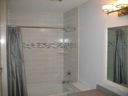 Modern Shower White Tile Bathrooms