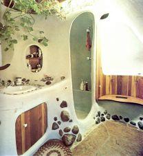 Amazing Rock Wall Bathroom You Need to Impersonate 37