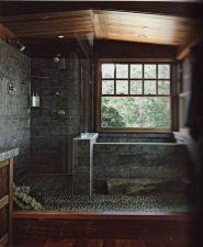 Amazing Rock Wall Bathroom You Need to Impersonate 40