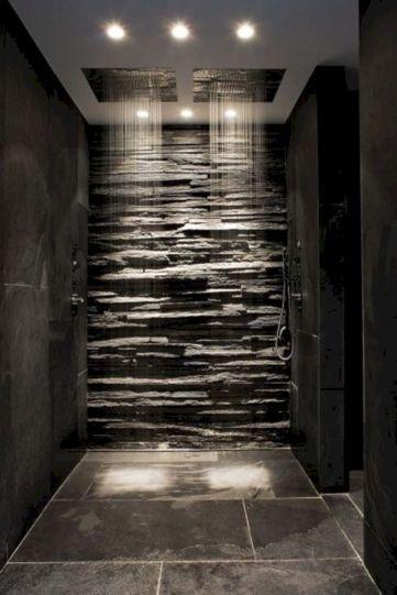Amazing Rock Wall Bathroom You Need to Impersonate 42