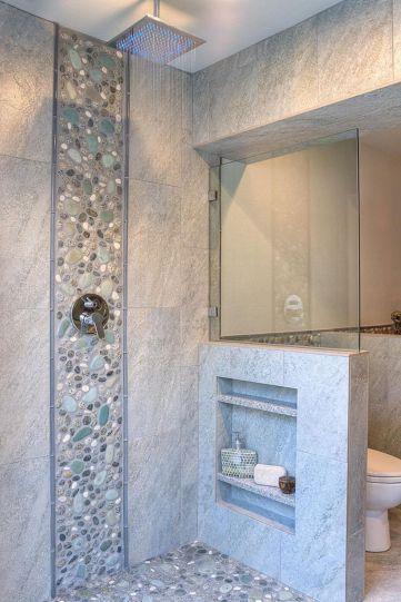 Amazing Rock Wall Bathroom You Need to Impersonate 44