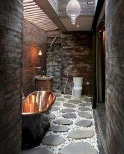 Amazing Rock Wall Bathroom You Need to Impersonate 48