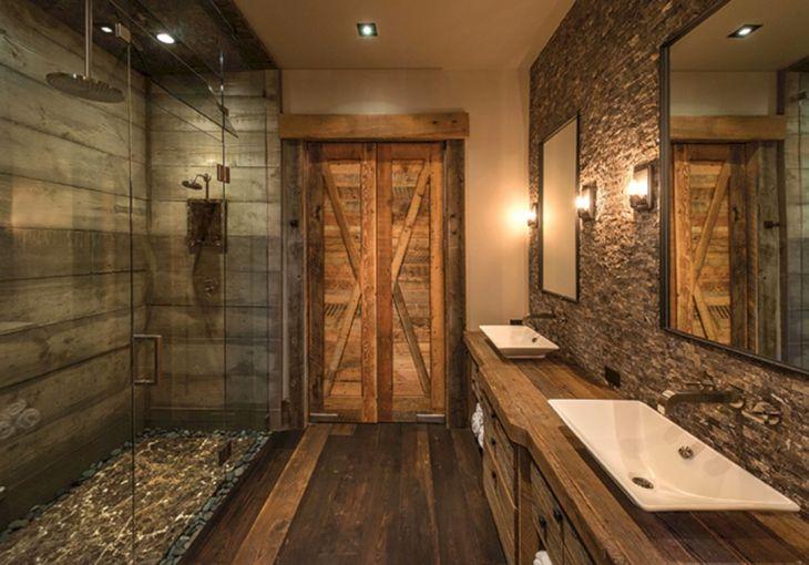 Bathroom Design With Rock Wall