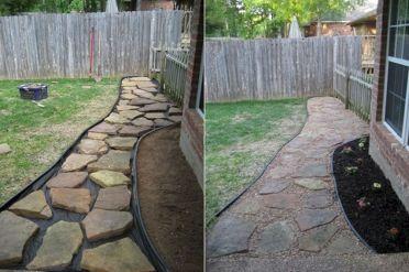 Back Yard DIY Project Walkway
