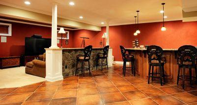 Basement Bar Room Floor Tile
