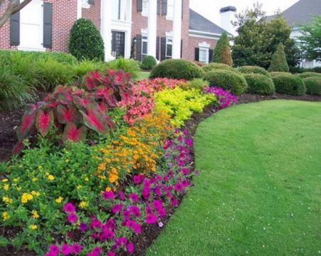 Bed Idea Flowers Garden Designs