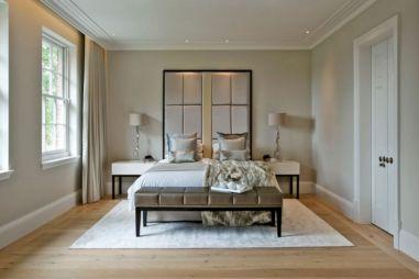 Bedroom Design with Beige Walls