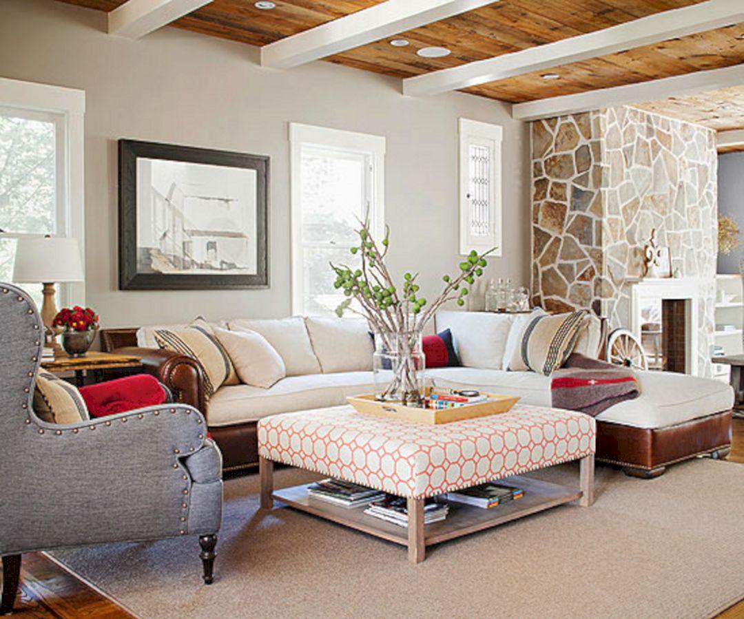 Cottage Style Living Room Decorating Ideas - DECOREDO