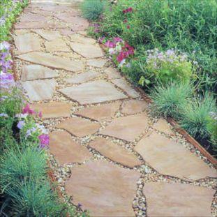 DIY Flagstone Path