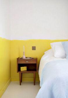 Incredible Yellow Aesthetic Bedroom Decorating Ideas 27