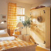 Incredible Yellow Aesthetic Bedroom Decorating Ideas 29