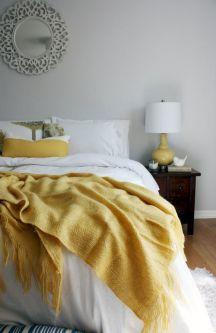 Incredible Yellow Aesthetic Bedroom Decorating Ideas 3