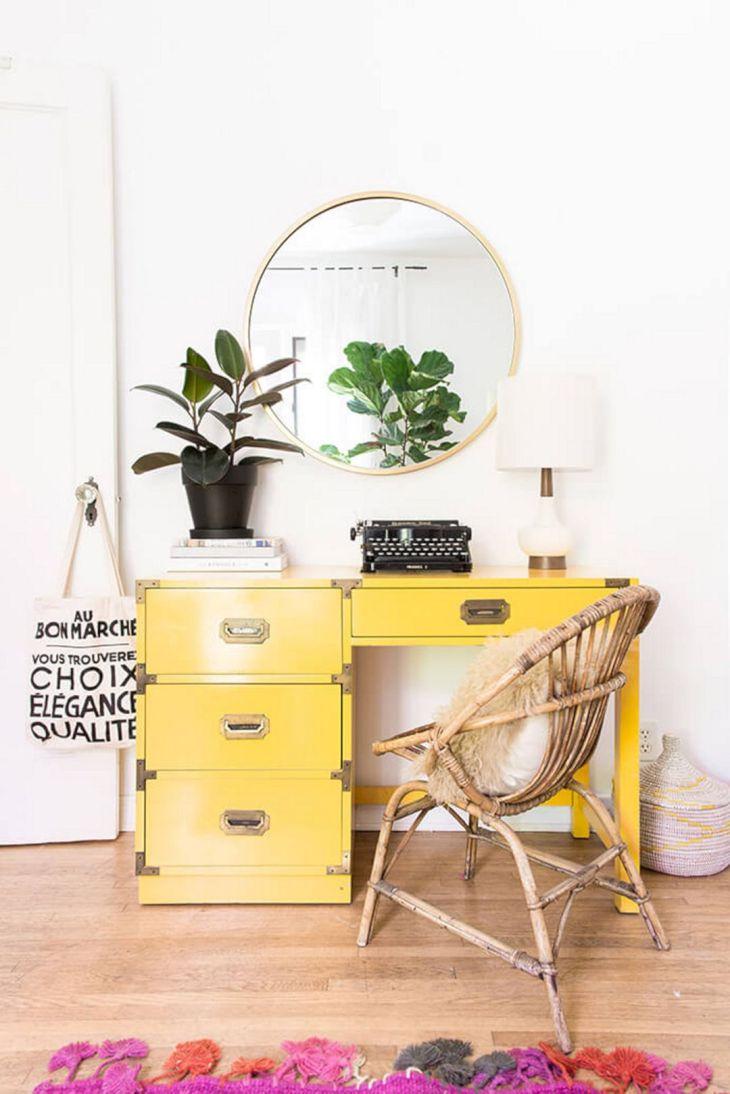 Yellow Aesthetic Living Room Decoration