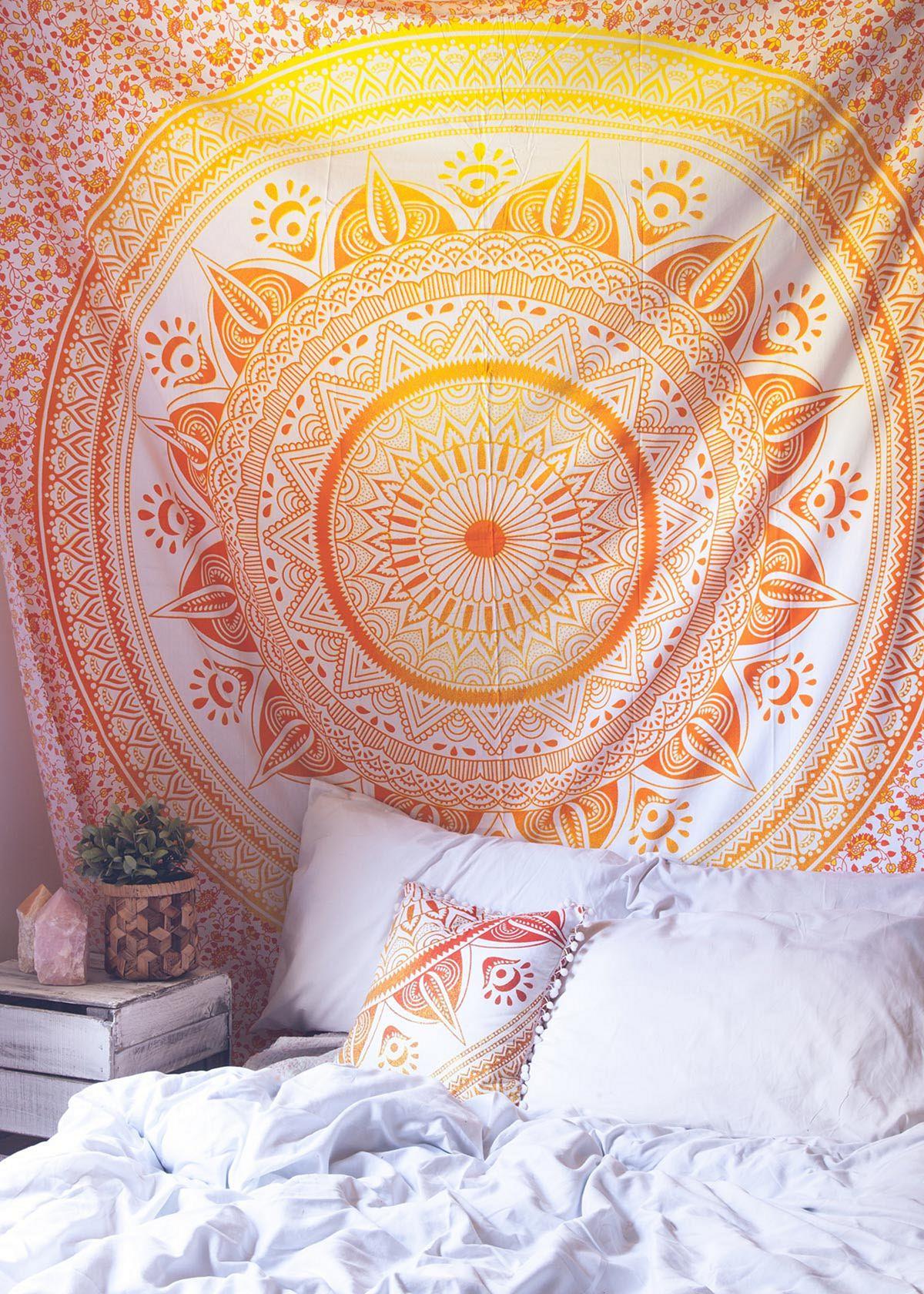 Yellow Aesthetic Wall Bedroom Ideas - DECOREDO