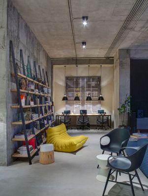 Industrial Home Office Design Idea