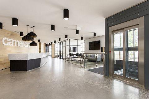 Industrial Office Lobby Design