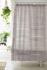 Linen Shower Curtain Bathroom