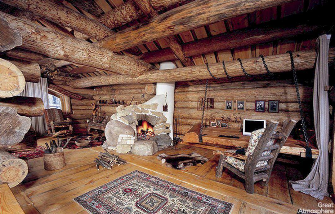 Log Cabin Living Room Ideas Part 24