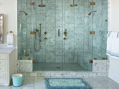 Master Bath Decorating Showers Ideas